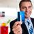 alegre · empresário · cartão · de · crédito - foto stock © stockyimages