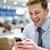 zakenman · cafe · vergadering · tabel · lezing · krant - stockfoto © stockyimages