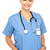 pretty medical professional posing casually stock photo © stockyimages