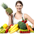 beautiful young woman with fruits and vegetables stock photo © stockyimages