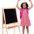 熱狂的な · 小学校 · 少女 · ポーズ · アップ - ストックフォト © stockyimages