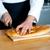 jonge · bakker · brood · brood · Maakt · een · reservekopie · huid - stockfoto © stockyimages