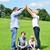 母親 · 子 · 一緒に · 草原 · 演奏 - ストックフォト © stockyimages