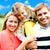 güzel · mutlu · kafkas · aile · üç · baba - stok fotoğraf © stockyimages
