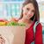 nő · vásárol · friss · zöldségek · mosolyog · fiatal · nő · vásárlás - stock fotó © stokkete
