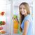 zdrowa · żywność · młoda · kobieta · kobieta · owoców · t-shirt · uśmiechnięty - zdjęcia stock © stokkete