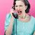 boos · vrouw · schreeuwen · retro · telefoon - stockfoto © stokkete