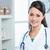 hermosa · femenino · médico · retrato · mujer · oficina - foto stock © stokkete