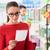 femme · lecture · Shopping · liste · épicerie · supermarché - photo stock © stokkete