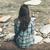 femme · séance · pierres · belle · brunette - photo stock © stokkete