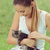 beautiful girl and little cat stock photo © stokkete