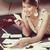 kadın · sevmek · mektup · kart · sevgililer · günü · güzel - stok fotoğraf © stokkete