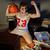 baloncesto · ventilador · nina · sexy · ropa · interior - foto stock © stokkete
