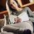 uśmiechnięty · kobiet · czytania · magazyn · salon · szczęśliwy - zdjęcia stock © stokkete