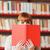 kız · kitap · kütüphane · kadın - stok fotoğraf © stokkete
