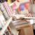 молодые · библиотека · женщины · рабочих · чтение - Сток-фото © stokkete