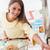 nő · vásárlás · áruház · vonzó · fiatal · nő · élelmiszer - stock fotó © stokkete