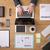 biznesmen · pracy · sprawozdanie · wykresy - zdjęcia stock © stokkete