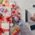 christmas · geschenk · vergadering · tabel · boom · vak - stockfoto © stokkete