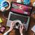 Çalışma · alanı · bilgisayar · masaüstü · çevrimiçi · kalma · ekran - stok fotoğraf © stokkete