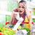 drága · élelmiszerbolt · fiatal · nő · kiált · hosszú · nyugta - stock fotó © stokkete