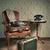 eski · moda · koltuk · bağbozumu · oda · duvar · kağıdı · kâğıt - stok fotoğraf © stokkete
