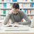 Mann · Studium · Bibliothek · Erwachsenen · konzentriert · Sitzung - stock foto © stokkete