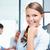 mulher · jovem · retrato · bastante · equipe · reunião · pessoas · de · negócios - foto stock © stokkete