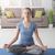 mujer · meditación · yoga · casa · embarazo - foto stock © stokkete