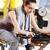 jonge · vrouw · gymnasium · machine · sport · fitness - stockfoto © stokkete
