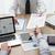 parceiros · de · negócios · escritório · trabalhando · mesa · de · escritório · usando · laptop · financeiro - foto stock © stokkete