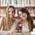счастливым · библиотека · два · женщины · студентов · глядя - Сток-фото © stokkete