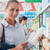 mulheres · mercearia · compras · supermercado · comida · feliz - foto stock © stokkete