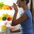 woman drinking milk stock photo © stokkete