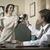 1950 · 笑みを浮かべて · ビジネスマン · 電話 · ハンサム · 作業 - ストックフォト © stokkete