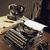 old typewriter on a wooden desk stock photo © stokkete