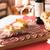 pão · carne · copo · de · vinho · comida · fundo · álcool - foto stock © stokkete