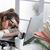 устал · деловая · женщина · компьютер · документы · бизнеса · образование - Сток-фото © stokkete