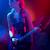 estrela · do · rock · menina · guitarra · guitarra · elétrica · ver · de · volta · sensual - foto stock © stokkete
