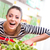 jonge · vrouw · supermarkt · naar · vrouw · jeans - stockfoto © stokkete
