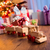 wooden train with christmas gift stock photo © stokkete