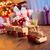 drewniane · zabawki · pociągu · odizolowany · biały · niebieski - zdjęcia stock © stokkete