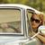 mujer · conducción · estilo · retro · imagen · feliz - foto stock © stokkete