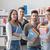 schoolmates posing together stock photo © stokkete