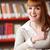 портрет · улыбаясь · кавказский · подростка · девушка · библиотека · улыбка - Сток-фото © stokkete