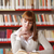 молодые · студент · библиотека · женщины · рабочих · чтение - Сток-фото © stokkete
