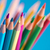 crayons · bleu · bois · bleu · clair · crayon · éducation - photo stock © stokkete