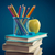 башни · книгах · изолированный · белый · книга · школы - Сток-фото © stokkete