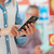 kadın · alışveriş · çevrimiçi · cep · telefonu · uygulaması - stok fotoğraf © stokkete