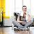 kadın · oturma · gülen · spor · salonu · iki · kadın · gülümseme - stok fotoğraf © stokkete